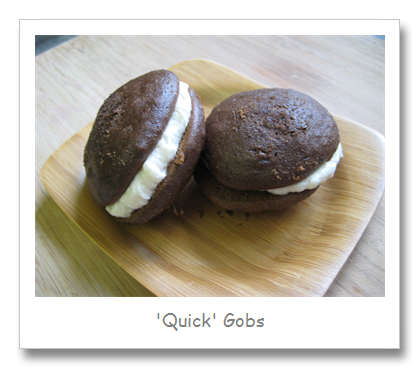 'Quick' Chocolate Gobs with Vanilla Filling