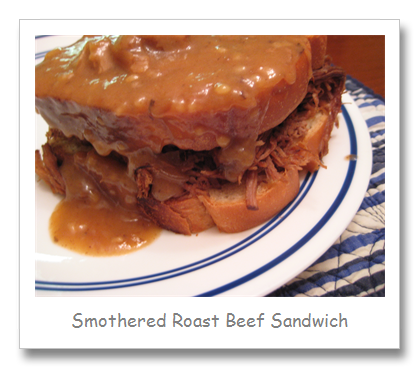 Smothered Roast Beef Sandwiches