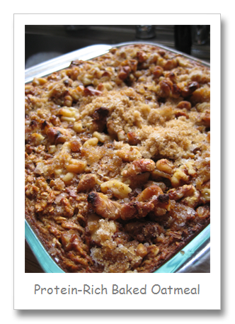 Healthy, Protein-Rich Baked Oatmeal