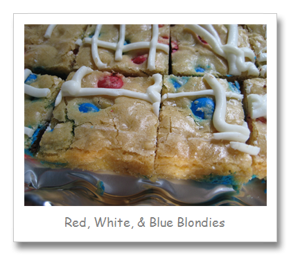 Red, White, & Blue Blondies