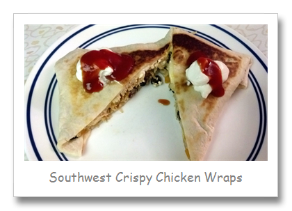 Southwest Crispy Chicken Wraps