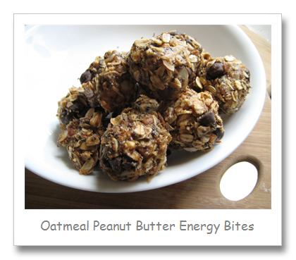 Oatmeal Peanut Butter Energy Bites