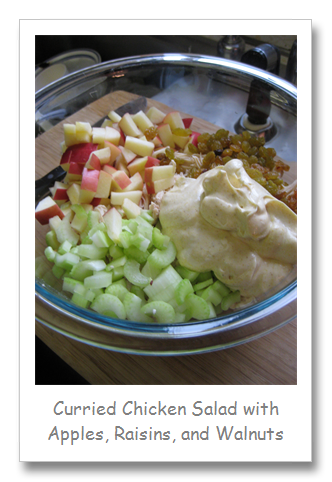 Curried Chicken Salad with Apples, Raisins, and Walnuts